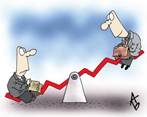 Рост и падение акций